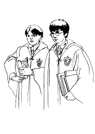 kids fun 24 coloring pages harry potter