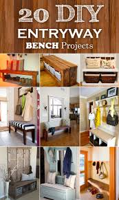 entryway shoe storage solutions on coat andfront foyer bench