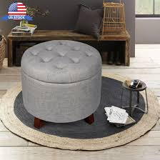 Soft Ottoman Soft Storage Ottoman Stool Footstool With Button Tufted Top