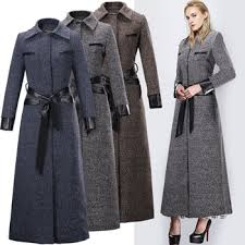 c66394a european high end fashion wool cashmere dress coat for