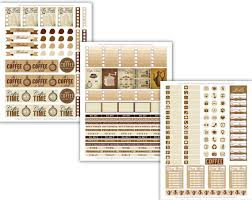coffee planner stickers printable pps0070 printable coffee stickers 2 little big crafter