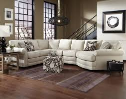 Curved Contemporary Sofa by Curved White Leather Sectioal Sofa With Shabby Chic Cushion And