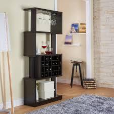 furniture of america umpton modern 4 tier wine stand room divider