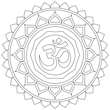 om mandala coloring free printable coloring pages