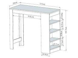 meuble table bar cuisine table mange debout avec rangement table mange debout avec rangement