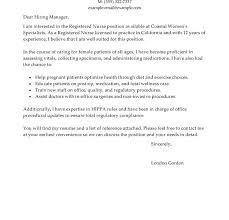 Sample Nursing Cover Letter For Resume by Wondrous Sample Nursing Cover Letter 14 Best Registered Nurse