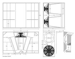 Bass Speaker Cabinet Design Plans Bh882 Eaw Hornplan Pinterest Speakers Speaker Plans And Audio