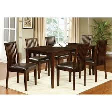 homelegance crown point 7 piece merlot dining table set hayneedle