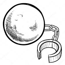 ball and chain sketch u2014 stock vector lhfgraphics 13981772