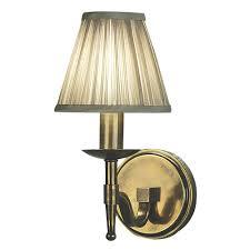 stanford 1 light brass wall lamp shimmer grey temple u0026 webster