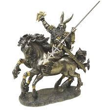 odin on horseback norse god bronze statue by derek w frost