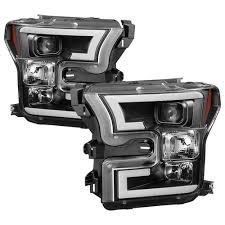 2017 f150 light bar ford f150 2015 2017 projector headlights light bar drl led black