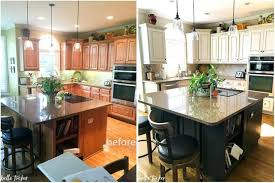 Painted Old Kitchen Cabinets by Painting Old Kitchen Cabinets Before And After Black Painted