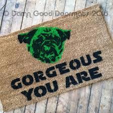 rude go away you should funny modern doormat damn good doormats