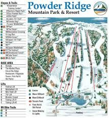 New England Area Map by Trail Map Powder Ridge Mountain Park U0026 Resort Middlefield Conn