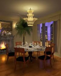 spectacular unique glass dining room chandeliers over wooden round