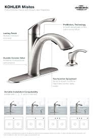 kohler coralais kitchen faucet faucet mistos kitchen faucet in stainless steel kohler pull out