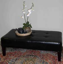 faux leather coffee table 4d concepts large faux leather coffee table in black 550072