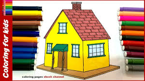 house coloring pages how to color house drawing pages for kids