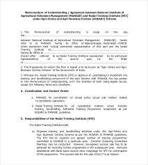 memorandum of understanding business partnership template
