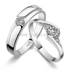 Sterling Silver Engravable Jewelry Sterling Silver Engraved Wedding Bands Set For Men And Women