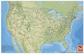 American States Map U S States Map Based On Watersheds 1700x1100 Mapporn