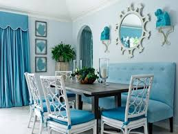 Aqua Dining Room by Blue Dining Room With Tufted Blue Bench Using A Dining Room