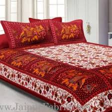 Chocolate Bed Linen - buy online block printed handmade double bed sheets at jaipur fabric