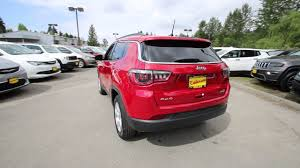 jeep compass limited red 2017 jeep compass latitude red line ht641265 redmond