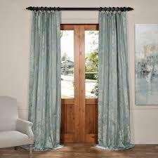 Blue Silk Curtains Jacquard Curtains Half Price Drapes