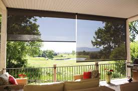 exterior patio sun screens and roller shades k to z window coverings