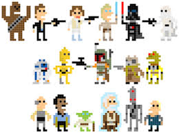 andy rash u0027s pixelated star wars characters long
