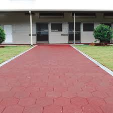 Recycled Tire Patio Pavers by Nature Stone Recycled Outdoor Driveway Rubber Pavers Red Rubber