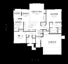 Empty Nest Floor Plans Mascord House Plan 1169es The Modern Ranch