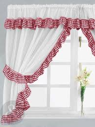 30 Curtains Terrific Red And White Kitchen Curtains 30 For Your Ikea Panel