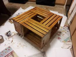 wine crate coffee table how to make a coffee table out of old wine crates easy diy project