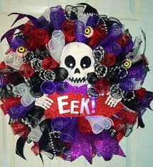 light up halloween wreath halloween mesh wreath skeleton