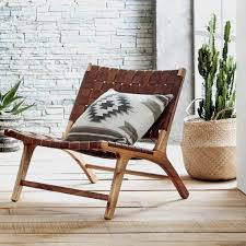 Leather Home Decor by Our Low Woven Leather Chair Makes Lounging An Inescapable