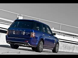 blue range rover vogue 2011 project kahn range rover vogue bali blue rs450 rear and