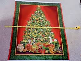 best time of the year tree panel fabric quilting