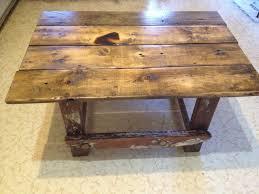 Custom Coffee Table custom painter u0027s ladder and rustic work table wood coffee table