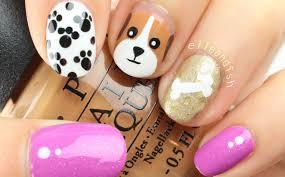 easy nail art characters easy puppy dog nail art youtube