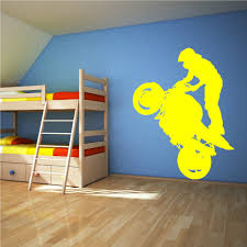 aliexpress com buy extreme sports motorcycle rider standing aliexpress com buy extreme sports motorcycle rider standing vinyl stickers art mural wall decals decorate the living room wallpaper f 129 from reliable