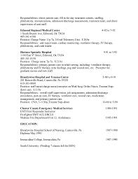 Charge Nurse Job Description Resume Sherry Resume 2015