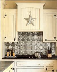 Tin Tiles For Kitchen Backsplash White Kitchens With Tin Back Splash Tin Backsplashes Tin
