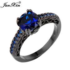 2017 junxin round male female ring vintage gold wedding