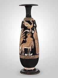 Bride And Groom Flasks Perfume Flask Alabastron Depicting Menelaos And Helen As Bride