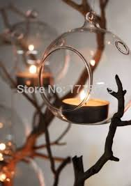 6pcs set teardrop plant terrariums glass candles holders hanging