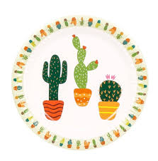 wedding party plates 10pcs 7inch the cactus theme paper plates birthday wedding party