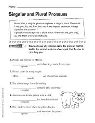 singular and plural pronouns lesson plans u0026 worksheets